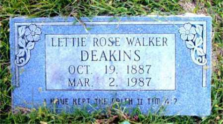 WALKER DEAKINS, LETTIE  ROSE - Boone County, Arkansas | LETTIE  ROSE WALKER DEAKINS - Arkansas Gravestone Photos