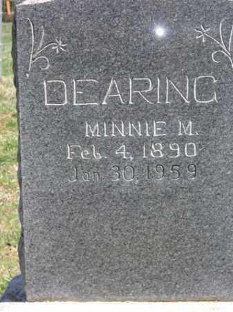 DEARING, MINNIE MAE - Boone County, Arkansas   MINNIE MAE DEARING - Arkansas Gravestone Photos