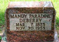 DEBERRY, MANDY PARADINE - Boone County, Arkansas   MANDY PARADINE DEBERRY - Arkansas Gravestone Photos