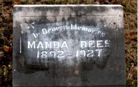 DEES, MANDA - Boone County, Arkansas | MANDA DEES - Arkansas Gravestone Photos