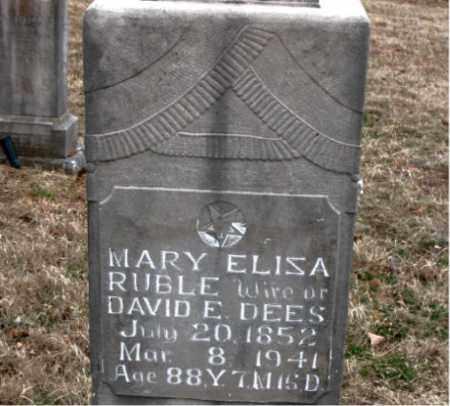 DEES, MARY ELIZA - Boone County, Arkansas | MARY ELIZA DEES - Arkansas Gravestone Photos