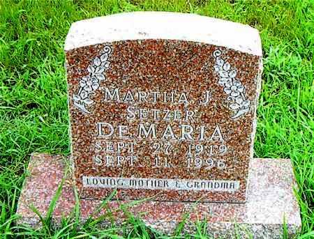 DEMARIA, MARTHA  J - Boone County, Arkansas | MARTHA  J DEMARIA - Arkansas Gravestone Photos