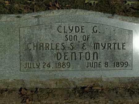 DENTON, CLYDE C. - Boone County, Arkansas | CLYDE C. DENTON - Arkansas Gravestone Photos
