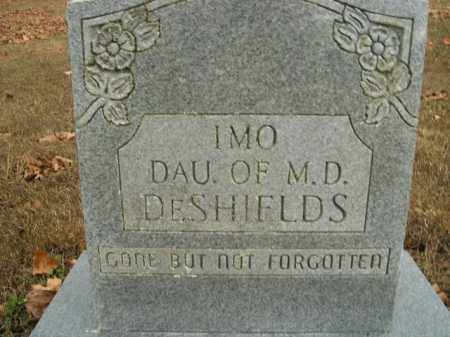 DESHIELDS, IMO - Boone County, Arkansas   IMO DESHIELDS - Arkansas Gravestone Photos