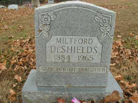 DESHIELDS, MILTFORD - Boone County, Arkansas | MILTFORD DESHIELDS - Arkansas Gravestone Photos