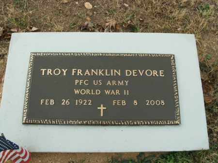 DEVORE  (VETERAN WWII), TROY FRANKLIN - Boone County, Arkansas | TROY FRANKLIN DEVORE  (VETERAN WWII) - Arkansas Gravestone Photos