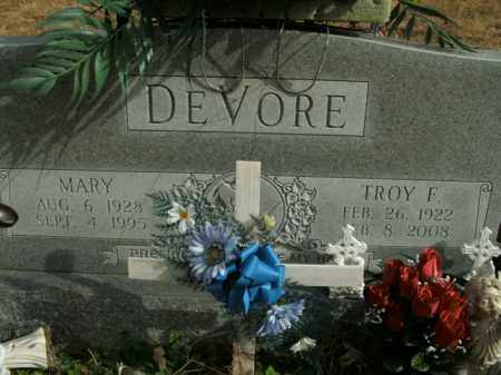 DEVORE, MARY - Boone County, Arkansas | MARY DEVORE - Arkansas Gravestone Photos