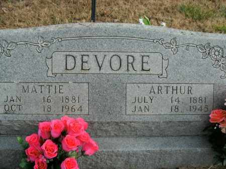 DEVORE, PRESLEY ARTHUR - Boone County, Arkansas | PRESLEY ARTHUR DEVORE - Arkansas Gravestone Photos