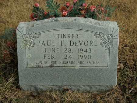 DEVORE, PAUL F. - Boone County, Arkansas | PAUL F. DEVORE - Arkansas Gravestone Photos