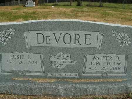 DEVORE, WALTER O. - Boone County, Arkansas | WALTER O. DEVORE - Arkansas Gravestone Photos