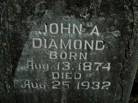 DIAMOND, JOHN A. - Boone County, Arkansas | JOHN A. DIAMOND - Arkansas Gravestone Photos
