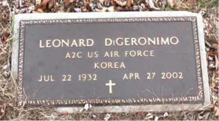 DIGERONIMO  (VETERAN KOR), LEONARD - Boone County, Arkansas   LEONARD DIGERONIMO  (VETERAN KOR) - Arkansas Gravestone Photos