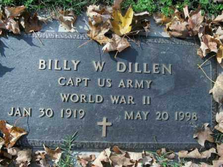 DILLEN (VETERAN WWII), BILLY W - Boone County, Arkansas   BILLY W DILLEN (VETERAN WWII) - Arkansas Gravestone Photos