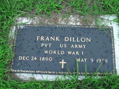 DILLON  (VETERAN WWI), FRANK - Boone County, Arkansas | FRANK DILLON  (VETERAN WWI) - Arkansas Gravestone Photos