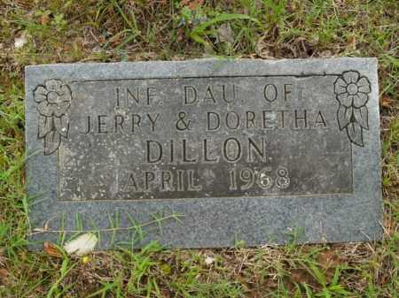 DILLON, INFANT DAUGHTER - Boone County, Arkansas | INFANT DAUGHTER DILLON - Arkansas Gravestone Photos