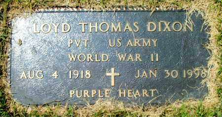 DIXON  (VETERAN WWII), LOYD THOMAS - Boone County, Arkansas   LOYD THOMAS DIXON  (VETERAN WWII) - Arkansas Gravestone Photos