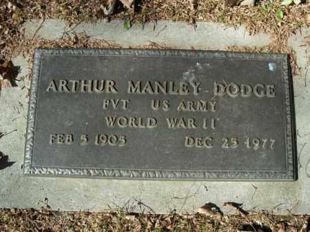 DODGE  (VETERAN WWII), ARTHUR MANLEY - Boone County, Arkansas | ARTHUR MANLEY DODGE  (VETERAN WWII) - Arkansas Gravestone Photos