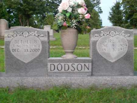 DODSON, BETHEL B. - Boone County, Arkansas   BETHEL B. DODSON - Arkansas Gravestone Photos