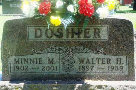 DOSHIER, WALTER HERBERT - Boone County, Arkansas | WALTER HERBERT DOSHIER - Arkansas Gravestone Photos