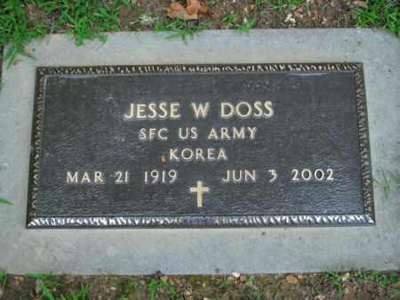 DOSS  (VETERAN KOR), JESSE W. - Boone County, Arkansas   JESSE W. DOSS  (VETERAN KOR) - Arkansas Gravestone Photos