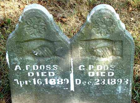 DOSS, G. P. - Boone County, Arkansas | G. P. DOSS - Arkansas Gravestone Photos