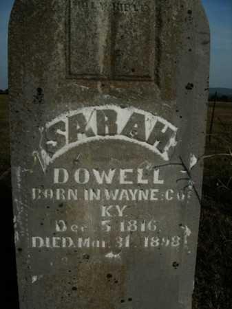 DOWELL, SARAH - Boone County, Arkansas | SARAH DOWELL - Arkansas Gravestone Photos
