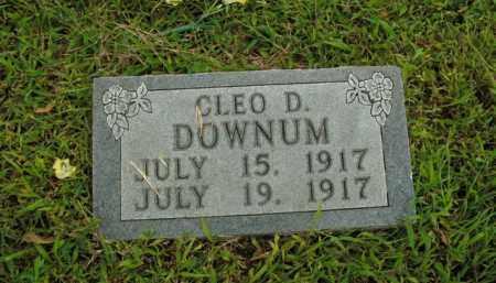 DOWNUM, CLEO D. - Boone County, Arkansas   CLEO D. DOWNUM - Arkansas Gravestone Photos
