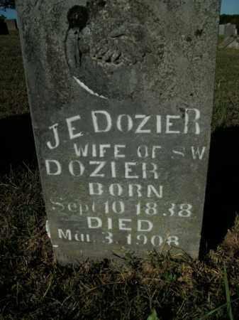 DOZIER, J.E. - Boone County, Arkansas   J.E. DOZIER - Arkansas Gravestone Photos