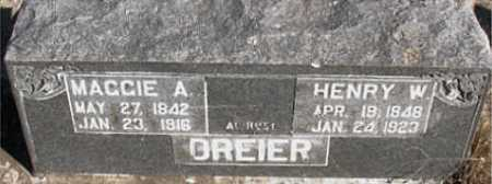 DREIER, MAGGIE A. - Boone County, Arkansas | MAGGIE A. DREIER - Arkansas Gravestone Photos
