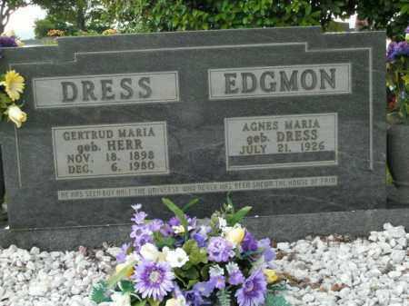 DRESS, GERTRUD MARIA - Boone County, Arkansas | GERTRUD MARIA DRESS - Arkansas Gravestone Photos