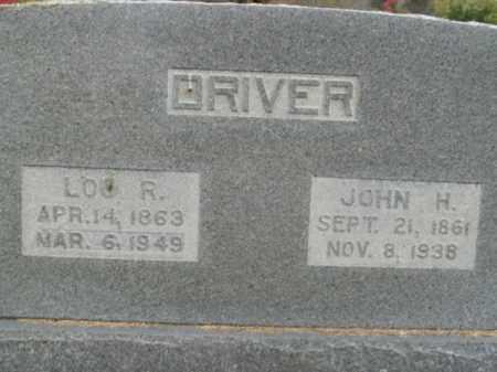 DRIVER, JOHN H. - Boone County, Arkansas | JOHN H. DRIVER - Arkansas Gravestone Photos