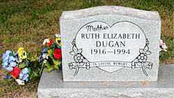 DUGAN, RUTH ELIZABETH - Boone County, Arkansas | RUTH ELIZABETH DUGAN - Arkansas Gravestone Photos