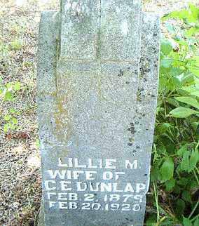 DUNLAP, LILLIE M. - Boone County, Arkansas   LILLIE M. DUNLAP - Arkansas Gravestone Photos