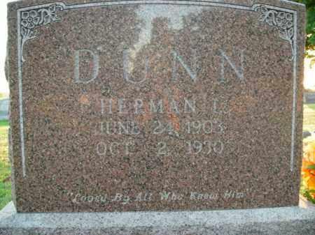 DUNN, HERMAN L. - Boone County, Arkansas | HERMAN L. DUNN - Arkansas Gravestone Photos