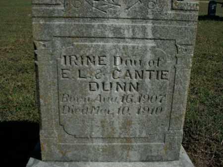 DUNN, IRINE - Boone County, Arkansas | IRINE DUNN - Arkansas Gravestone Photos