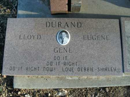 DURAND, LLOYD EUGENE - Boone County, Arkansas | LLOYD EUGENE DURAND - Arkansas Gravestone Photos