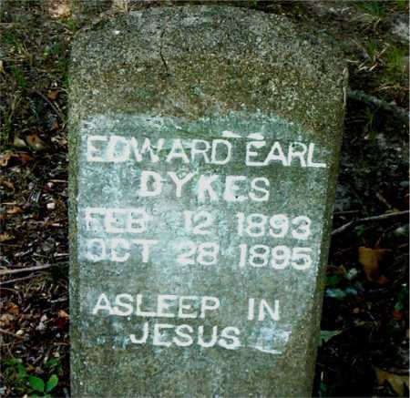 DYKES, EDWARD EARL - Boone County, Arkansas   EDWARD EARL DYKES - Arkansas Gravestone Photos