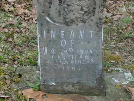 EASTHAM, INFANT - Boone County, Arkansas | INFANT EASTHAM - Arkansas Gravestone Photos