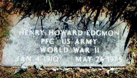 EDGMON  (VETERAN WWII), HENRY HOWARD - Boone County, Arkansas | HENRY HOWARD EDGMON  (VETERAN WWII) - Arkansas Gravestone Photos