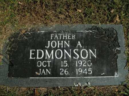 EDMONSON, JOHN A. - Boone County, Arkansas | JOHN A. EDMONSON - Arkansas Gravestone Photos