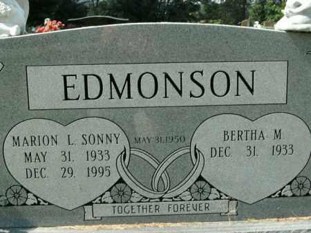 EDMONSON, MARION L. SONNY - Boone County, Arkansas | MARION L. SONNY EDMONSON - Arkansas Gravestone Photos