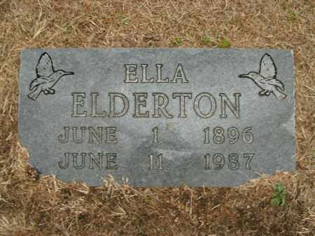 ELDERTON, ELLA - Boone County, Arkansas | ELLA ELDERTON - Arkansas Gravestone Photos