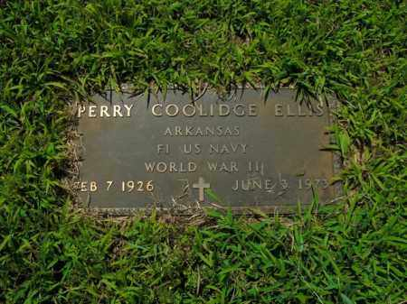 ELLIS  (VETERAN WWII), PERRY COOLIDGE - Boone County, Arkansas | PERRY COOLIDGE ELLIS  (VETERAN WWII) - Arkansas Gravestone Photos