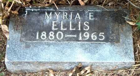 ELLIS, MYRIA  E - Boone County, Arkansas | MYRIA  E ELLIS - Arkansas Gravestone Photos