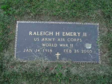EMERY II  (VETERAN WWII), RALEIGH H - Boone County, Arkansas   RALEIGH H EMERY II  (VETERAN WWII) - Arkansas Gravestone Photos