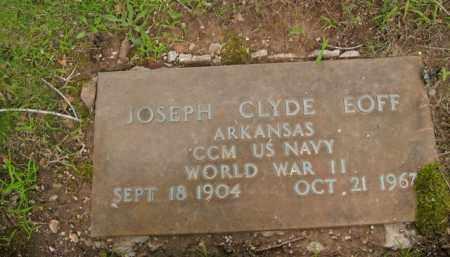 EOFF  (VETERAN WWII), JOSEPH CLYDE - Boone County, Arkansas   JOSEPH CLYDE EOFF  (VETERAN WWII) - Arkansas Gravestone Photos