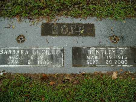 EOFF, BARBARA LUCILLE - Boone County, Arkansas | BARBARA LUCILLE EOFF - Arkansas Gravestone Photos