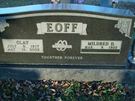 EOFF, CLAY - Boone County, Arkansas | CLAY EOFF - Arkansas Gravestone Photos