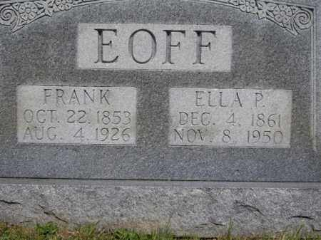 EOFF, FRANK - Boone County, Arkansas   FRANK EOFF - Arkansas Gravestone Photos