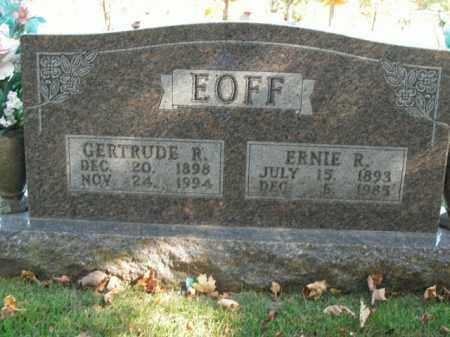 EOFF, ERNIE R. - Boone County, Arkansas | ERNIE R. EOFF - Arkansas Gravestone Photos